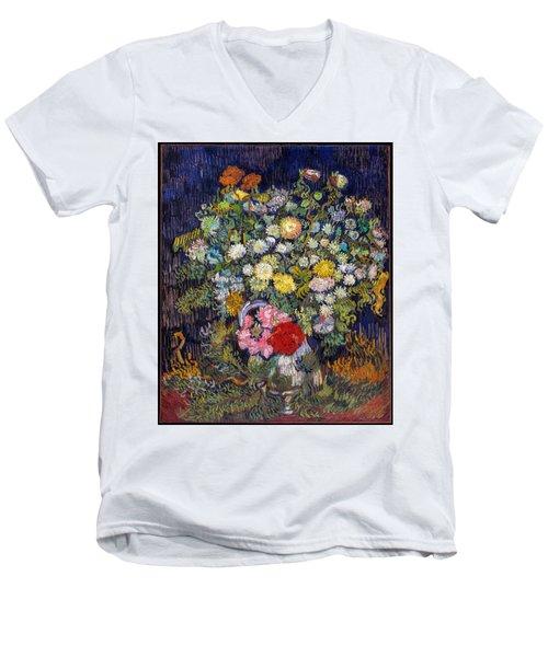 van Gogh's Vase          Men's V-Neck T-Shirt