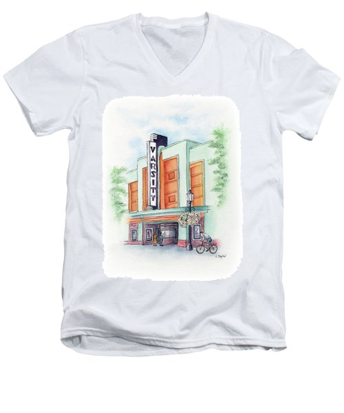 Varsity On Main Men's V-Neck T-Shirt