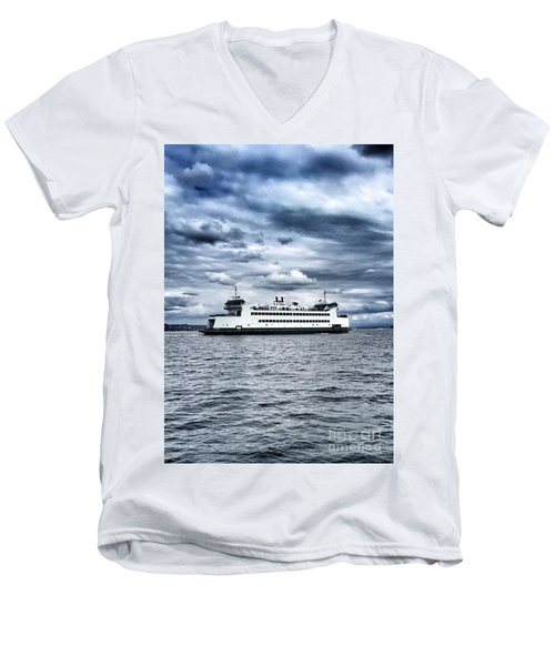 Vashon Island Ferry Men's V-Neck T-Shirt