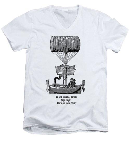 Vector Victor Vintage Airship Men's V-Neck T-Shirt