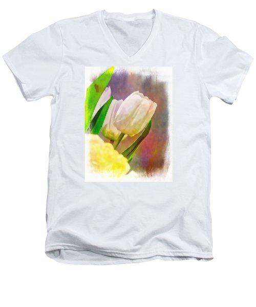 Vegas Tulip Men's V-Neck T-Shirt