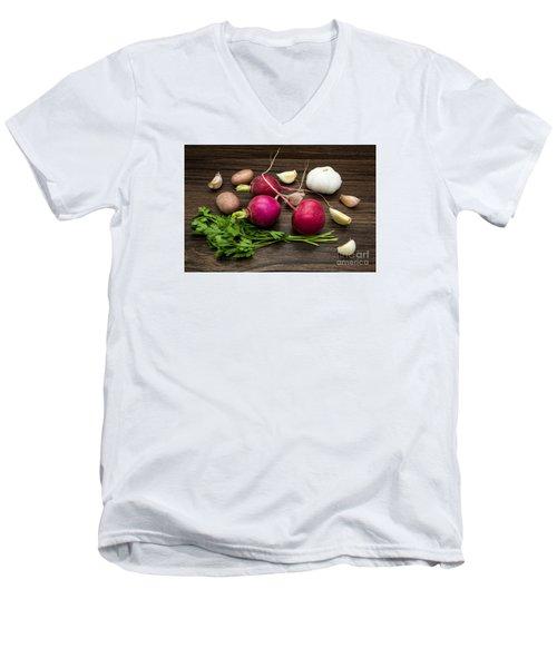 Vegetables Still Life Men's V-Neck T-Shirt