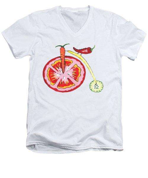Veggie Bike Men's V-Neck T-Shirt