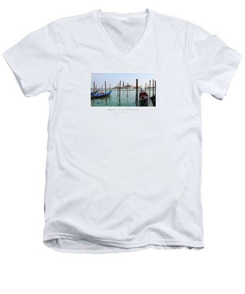 Venetia - At The Waterfront Men's V-Neck T-Shirt