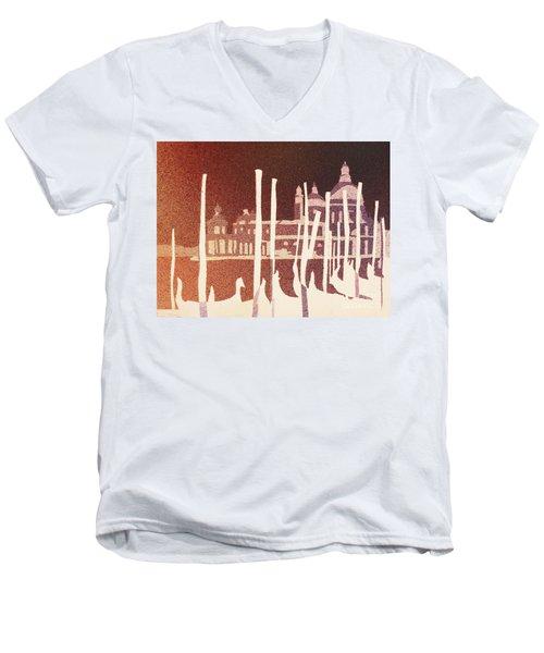 Venice Reversed Men's V-Neck T-Shirt by Ryan Fox