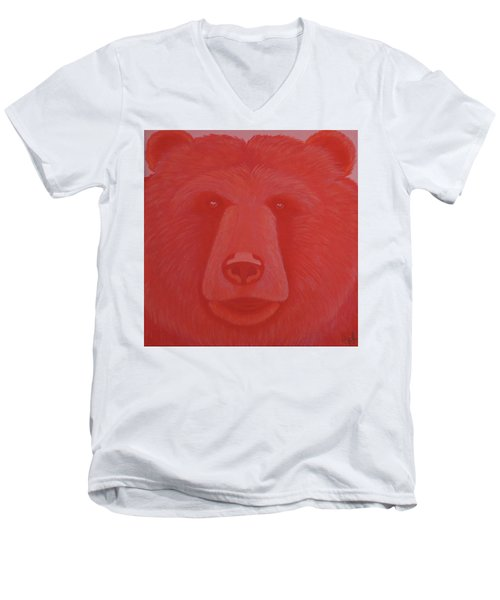 Vermillion Bear Men's V-Neck T-Shirt