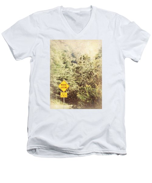 Vermont In Winter Men's V-Neck T-Shirt
