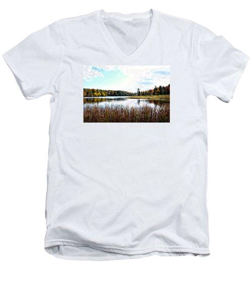 Vermont Scenery Men's V-Neck T-Shirt by Rena Trepanier