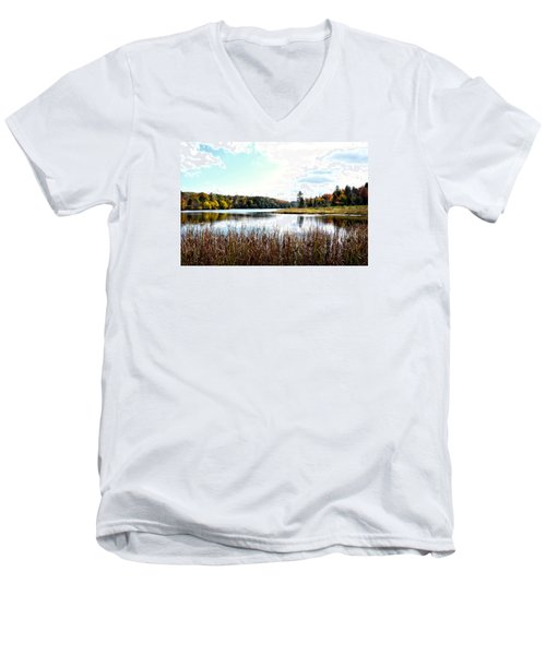 Vermont Scenery Men's V-Neck T-Shirt