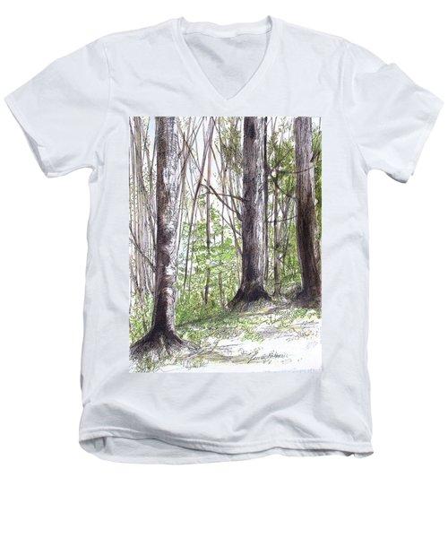Vermont Woods Men's V-Neck T-Shirt