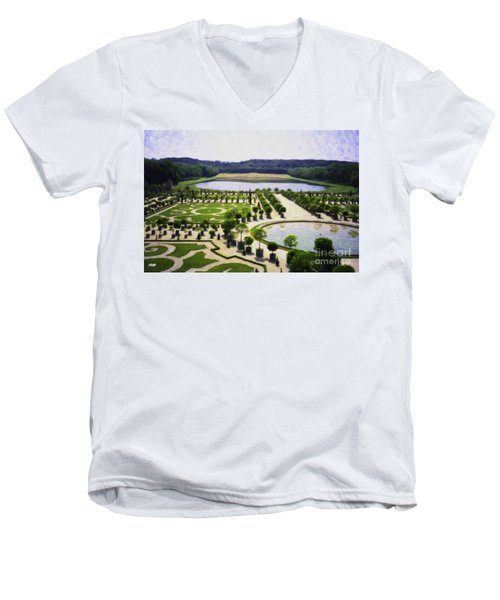 Versailles Digital Paint Men's V-Neck T-Shirt