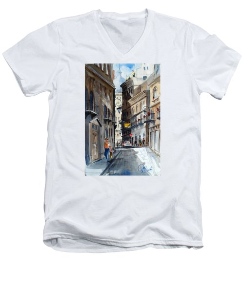 via Giardinetti  Men's V-Neck T-Shirt
