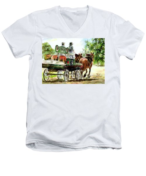Victoria Bitter, Working Clydesdales. Men's V-Neck T-Shirt