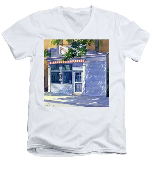 Vic's Barbershop Men's V-Neck T-Shirt