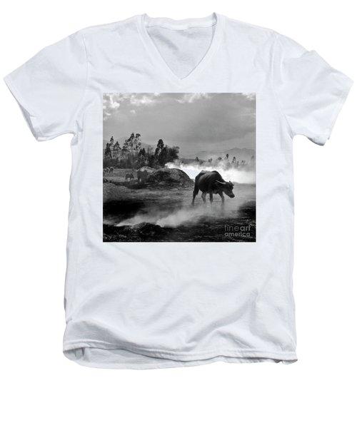 Vietnamese Water Buffalo  Men's V-Neck T-Shirt