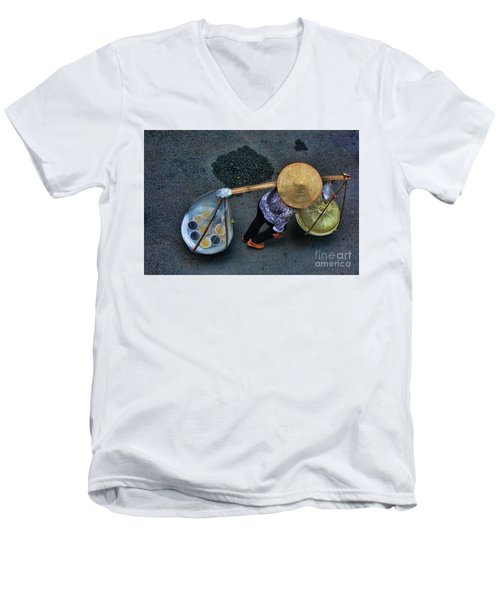 Vietnamese Woman Work Men's V-Neck T-Shirt by Chuck Kuhn