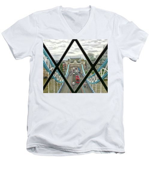 View From A Bridge Men's V-Neck T-Shirt