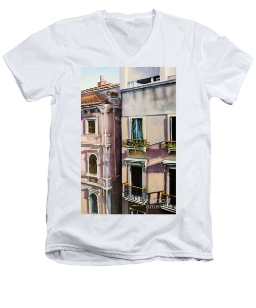 View From A Venetian Window Men's V-Neck T-Shirt by Marlene Book