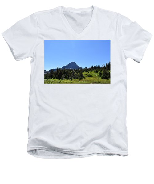Men's V-Neck T-Shirt featuring the photograph View From Logan's Pass by Dacia Doroff