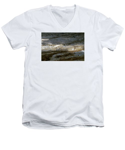 View From Masada Men's V-Neck T-Shirt by Dubi Roman