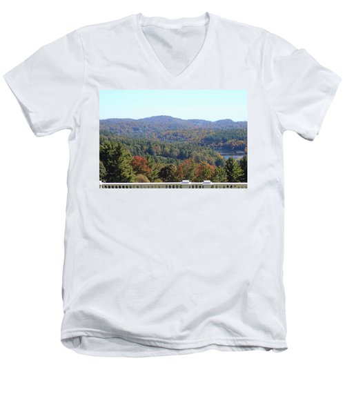 View From Moses Cone 2014c Men's V-Neck T-Shirt