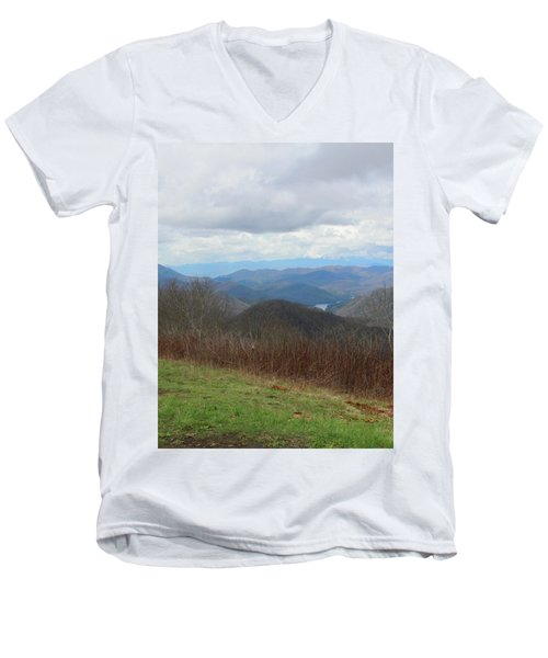 View From Silers Bald 2015c Men's V-Neck T-Shirt