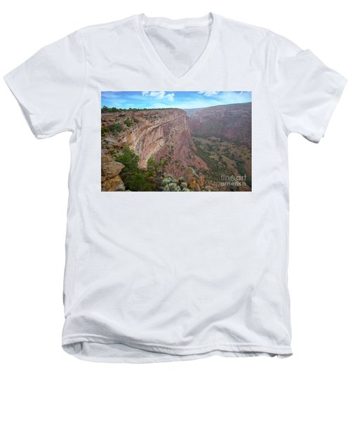 Men's V-Neck T-Shirt featuring the photograph View From The Top by Anne Rodkin
