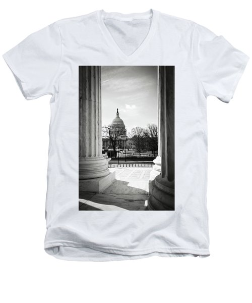 View Of Capitol Hill Through The Supreme Court Men's V-Neck T-Shirt