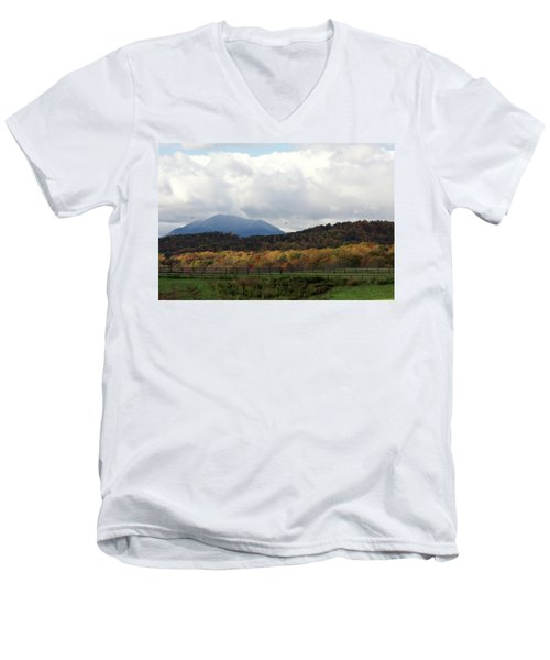 View Of Sharp Top In Blue Ridge Mountains Men's V-Neck T-Shirt