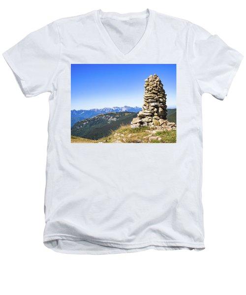 View Of The Apuan Alps Men's V-Neck T-Shirt
