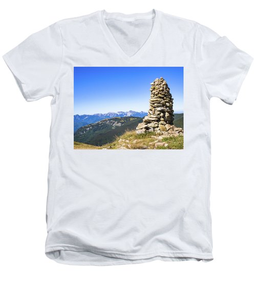 View Of The Apuan Alps Men's V-Neck T-Shirt