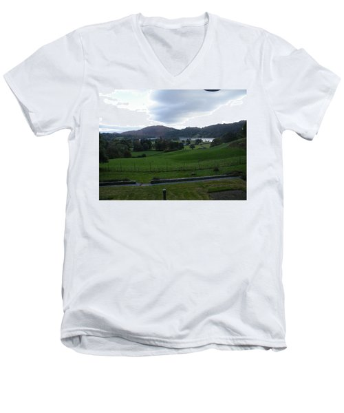 View Of The Lakes Men's V-Neck T-Shirt