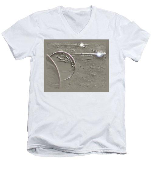 View To A Gray Universe Men's V-Neck T-Shirt