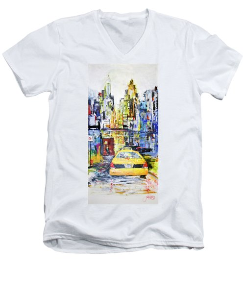 View To Manhattan Men's V-Neck T-Shirt