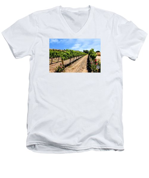 Vines And Roses Men's V-Neck T-Shirt by Chris Smith