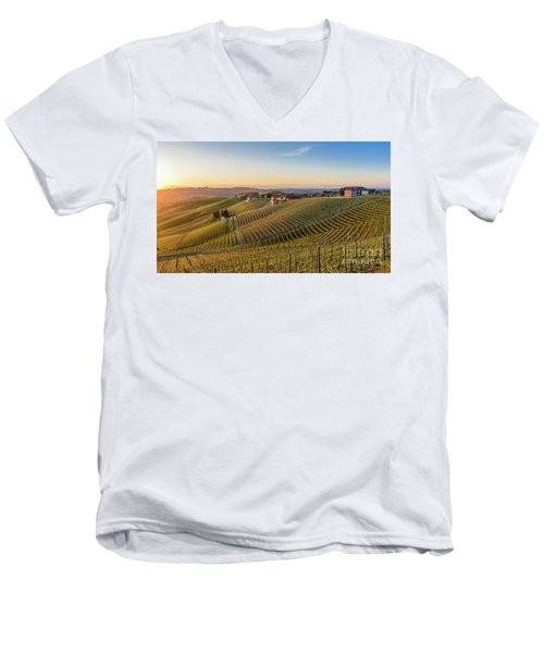 Vineyard At Barbaresco, Italy Men's V-Neck T-Shirt