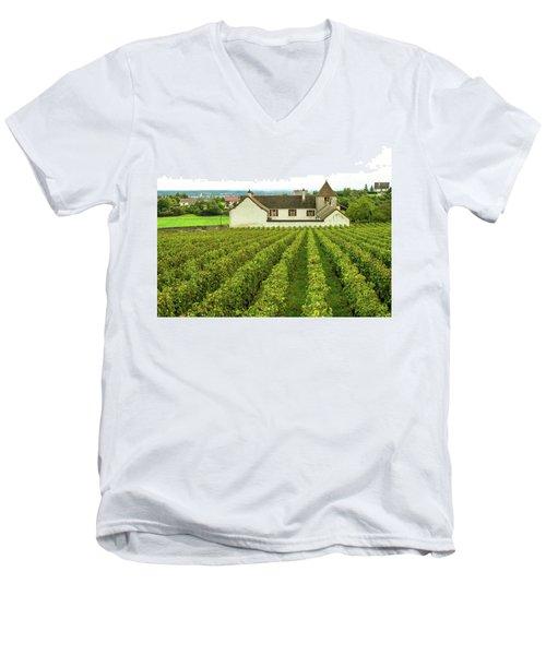 Vineyard In France Men's V-Neck T-Shirt