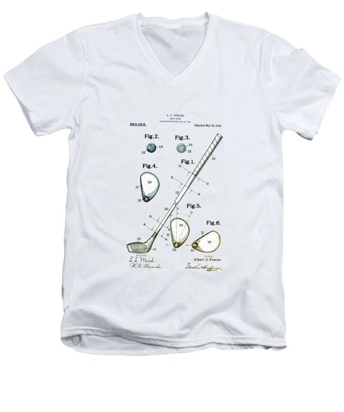 Vintage 1910 Golf Club Patent Men's V-Neck T-Shirt