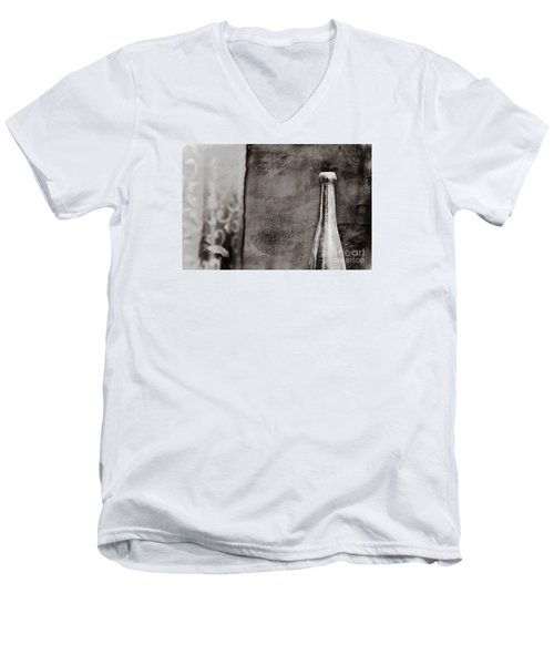 Men's V-Neck T-Shirt featuring the photograph Vintage Beer Bottle by Andrey  Godyaykin