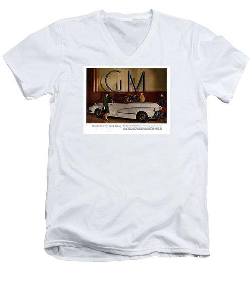 Vintage Car Ads Men's V-Neck T-Shirt by Allen Beilschmidt