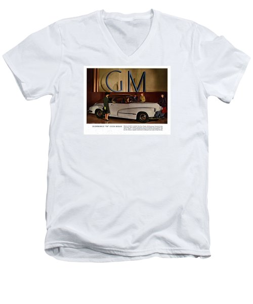Vintage Car Ads Men's V-Neck T-Shirt