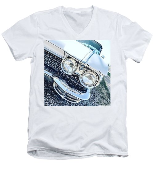 #vintage #carcorners Just Make So Men's V-Neck T-Shirt by Austin Tuxedo Cat