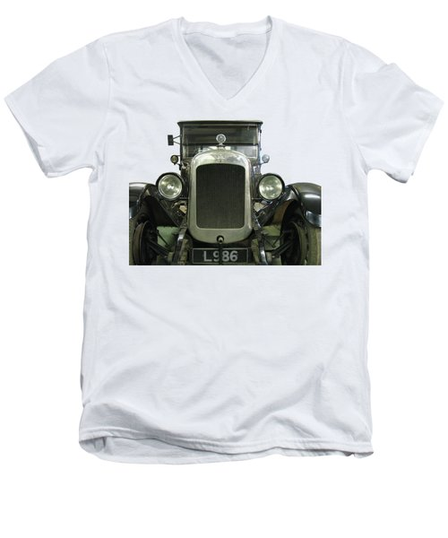 Vintage Convertible Motor Car. Men's V-Neck T-Shirt by Tom Conway