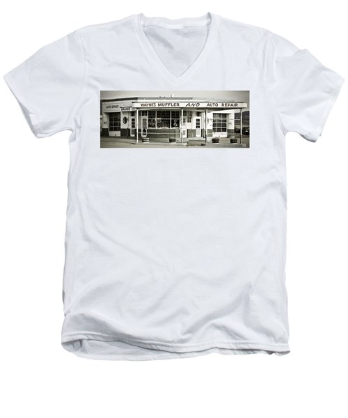 Vintage Gas Station Men's V-Neck T-Shirt