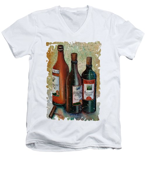 Vintage Georgian Wine Fresco Men's V-Neck T-Shirt