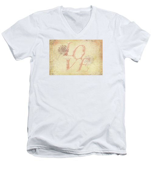 Men's V-Neck T-Shirt featuring the photograph Vintage Love by Caitlyn Grasso