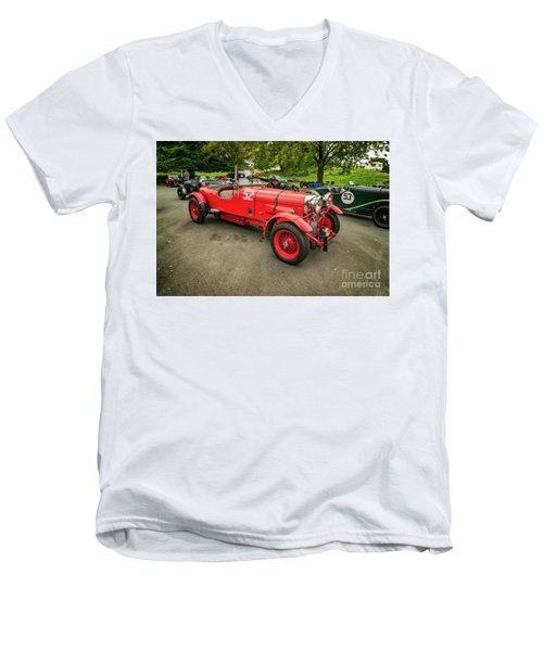 Men's V-Neck T-Shirt featuring the photograph Vintage Motors by Adrian Evans