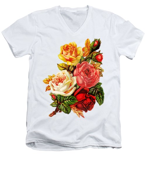 Vintage Rose I Men's V-Neck T-Shirt