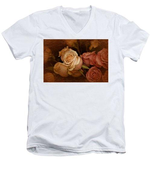 Vintage Roses March 2017 Men's V-Neck T-Shirt by Richard Cummings