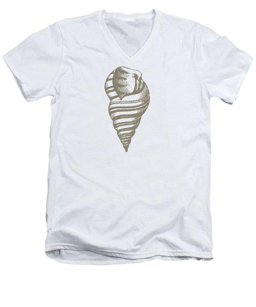 Vintage Sea Shell Illustration Men's V-Neck T-Shirt